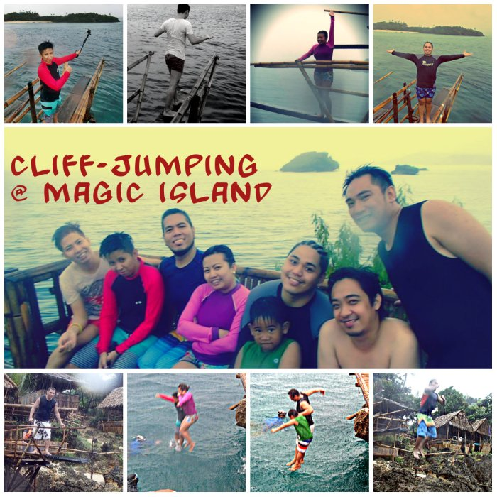 Cliff-Jumping in Magic Island, Boracay