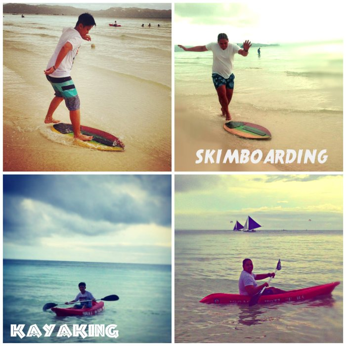 Kayaking and Skimboarding in Boracay