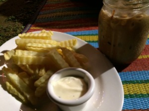 Flotsam and Jetsam Artist Beach Hostel - Iced Mocha and Truffle Fries